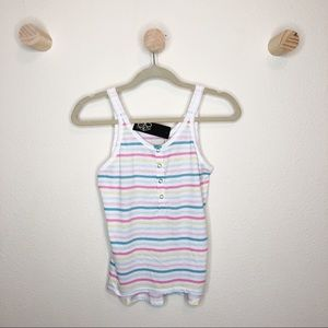 Chaser Pastel colored striped tank top